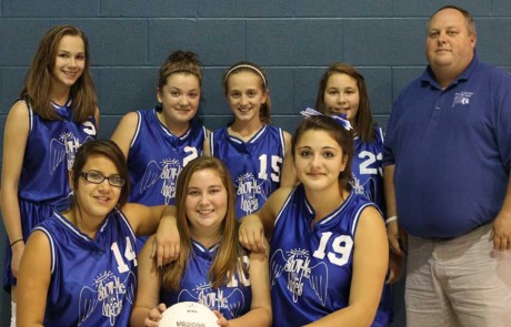 Girls volleyball team 2014